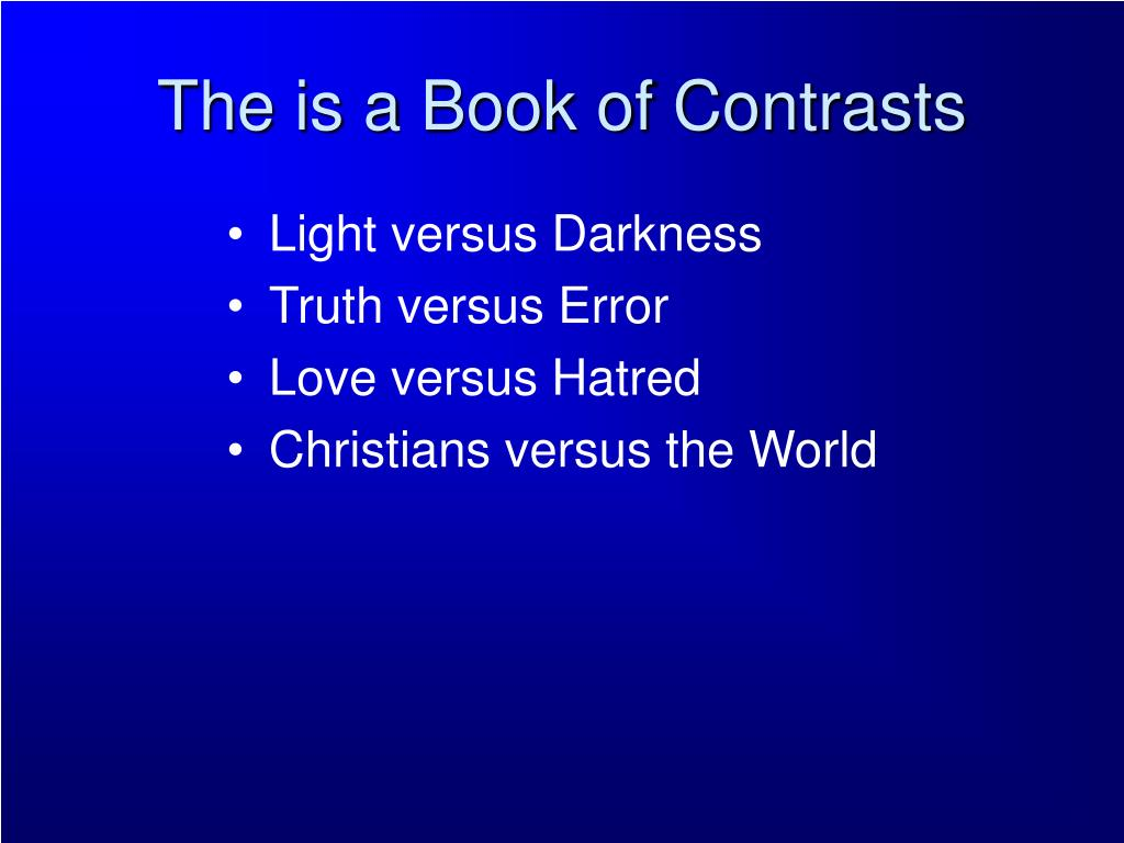 The is a Book of Contrasts