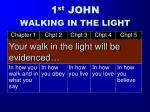 your walk in the light will be evidenced