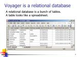 voyager is a relational database