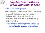 prejudice based on gender sexual orientation and age8
