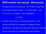differential advantage discussion
