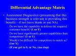 differential advantage matrix1