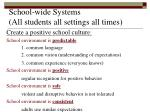 school wide systems all students all settings all times