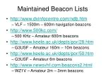 maintained beacon lists