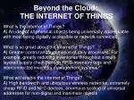 beyond the cloud the internet of things