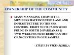 ownership of the community