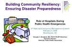 building community resiliency ensuring disaster preparedness