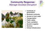 community response manage societal disruption