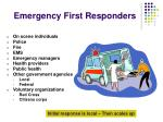 emergency first responders