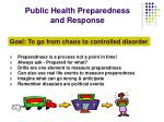 public health preparedness and response