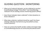 guiding question monitoring