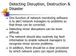 detecting disruption destruction disaster
