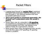 packet filters