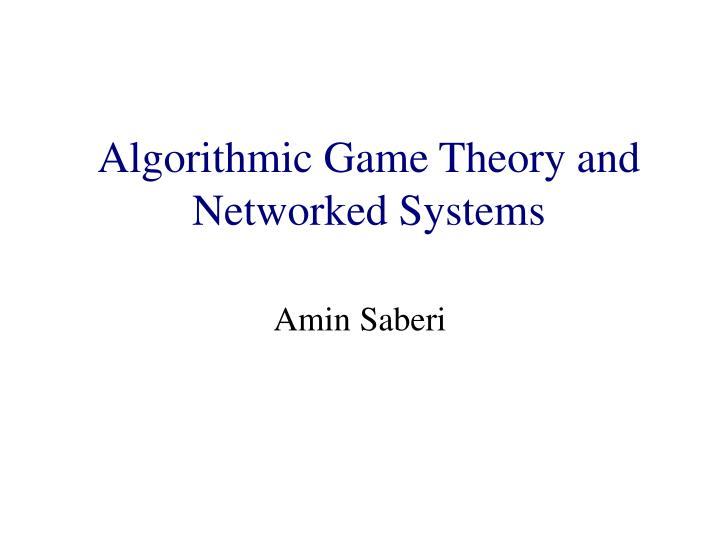 algorithmic game theory and internet computing n.
