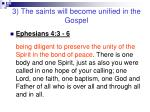 3 the saints will become unified in the gospel9