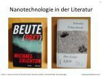 nanotechnologie in der literatur
