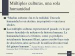 m ltiples culturas una sola humanidad