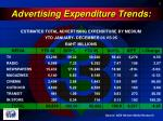 advertising expenditure trends
