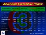 advertising expenditure trends1
