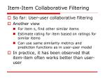item item collaborative filtering