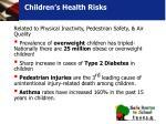 children s health risks