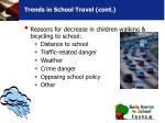 trends in school travel cont