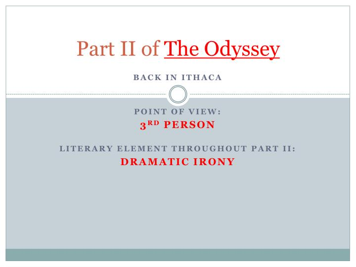 part ii of the odyssey n.
