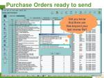 purchase orders ready to send