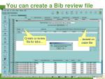 you can create a bib review file