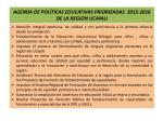 agenda de pol ticas educativas priorizadas 2012 2016 de la regi n ucayali