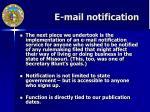 e mail notification