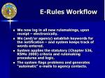 e rules workflow