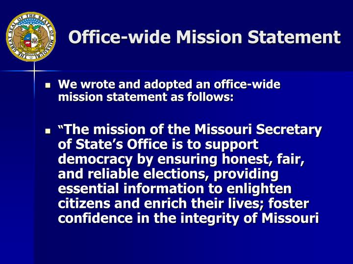 Office-wide Mission Statement