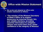 office wide mission statement