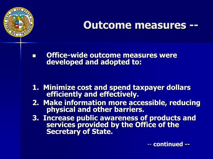 Outcome measures --