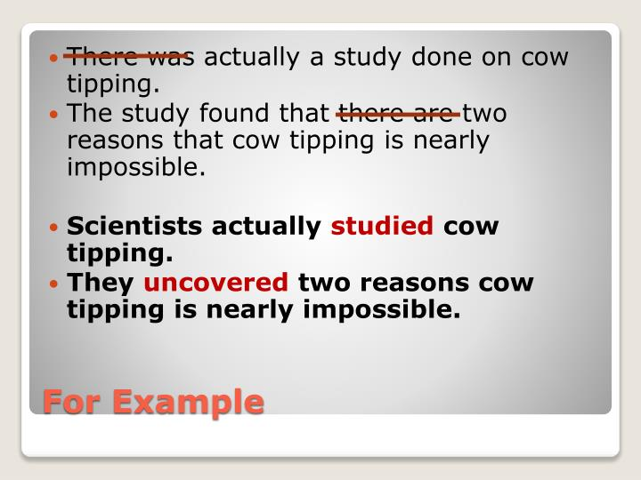 There was actually a study done on cow tipping.