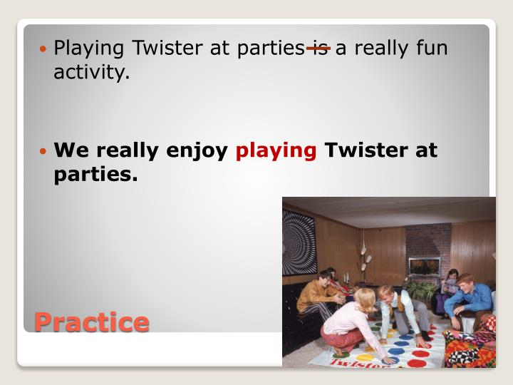 Playing Twister at parties is a really fun activity.