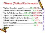 fitness fiziksel performans