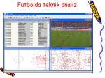 futbolda teknik analiz