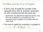 10 8 risk and the cost of capital