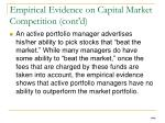 empirical evidence on capital market competition cont d
