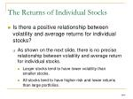 the returns of individual stocks