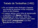 tratado de tordesilhas 1492