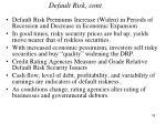 default risk cont