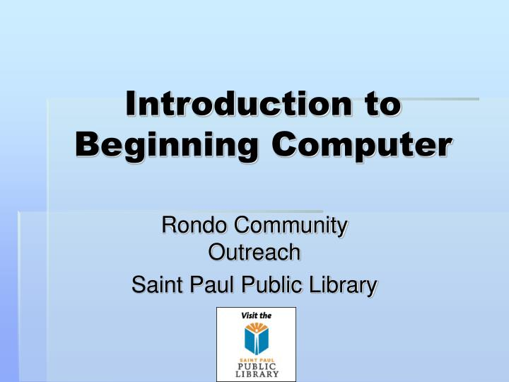 introduction to beginning computer n.