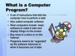 what is a computer program
