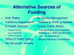 alternative sources of funding