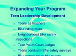 expanding your program