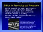 ethics in psychological research1