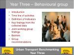 year three behavioural group